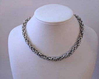 ON SALE Vintage Sterling Silver Necklace