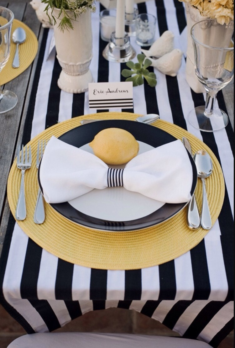 Awesome Black And White Tablecloth Navy And White Stripped Wedding  Tablecloth Table Cloth Table Runner Nautical Beach Wedding Baby Shower Sale  With Blue And ...