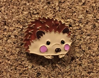 Cute Hedgehog Enamel Pin