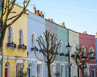 Kentish Town Photography - Kelly Street Print - London Art - Colourful Houses