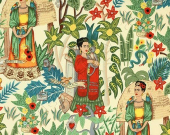 Frida's Garden Tea Folklorico Collection By Alexander Henry Fabrics, Frida Kahlo, Artist