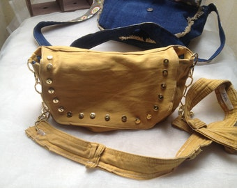 mustard yellow pouch