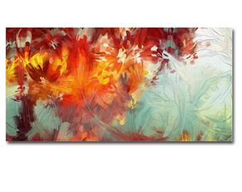 Abstract Art Canvas Print Panel Wall Art Framed home decor painting office decor 50 x 27 cm