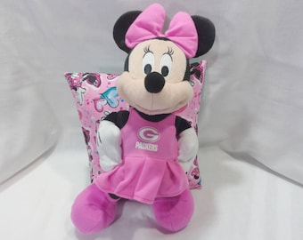 These Pillow Pal/Character Pillows make nice gifts for all ages.  Minnie Mouse, Cinderella, Raggety Ann and Andy Designs.  Pocket for gifts.