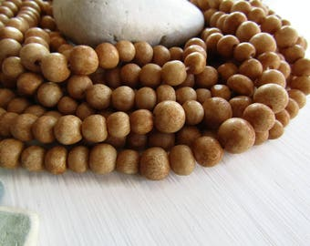 brown  beige round  bone beads , size and shape  variations , natural Irregular look , ethnic boho style , 7mm to 10mm dia (30 beads) 6DB9-5