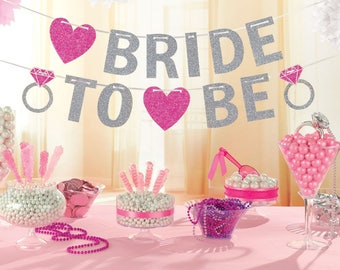 Hen Party  Bride to Be Glitter Banner  3.65m