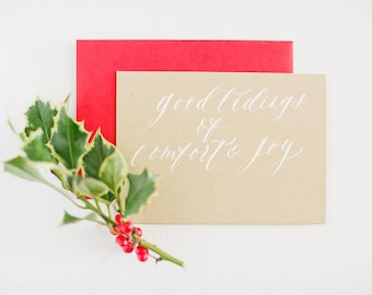 Good Tidings of Comfort & Joy - Christmas Card