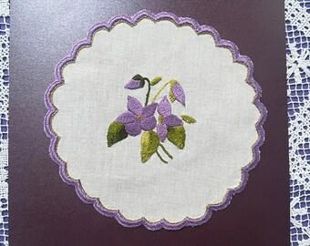 Jar cover - Violets