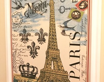 Paris Eiffel Tower Pin Board Jewelry Board Cork Board