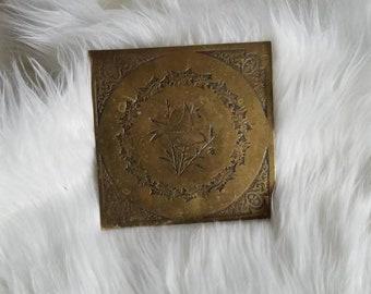Brass Bird Tile