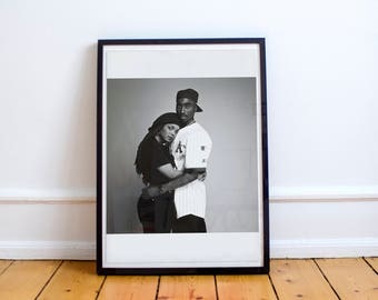 Tupac Shakur, Janet Jackson, Portrait Photograph, Jackson Five, Pop Star poster, 2Pac, Poetic Justice, Tupac wall art, Janet jackson poster