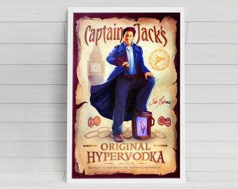 Captain Jack's Original Hypervodka signed poster - 11x17