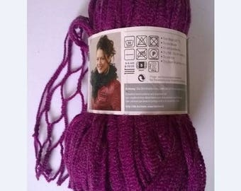 new wool rustle SMC NETWORK 100gr fuschia 036