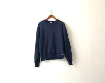 Basic 90s Navy Russell Athletic Sweatshirt - M