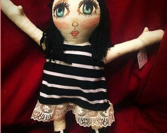 Nautical Hand Made Cloth Art Doll