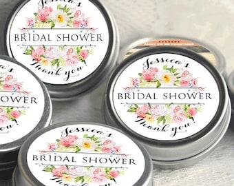 12 Bridal Shower Mint Tins, Personalized Mint Favor Wild Flower Wedding Favor Personalized Bridal Shower Favor, Baby Shower, Mint Tin Favors