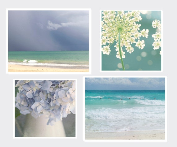 Special, Landscape,Coastal Beach Set, Four Individual Prints, Two 11x14 and Two 12x12 prints, Fine Art Photography, Cottage Light Studio