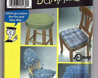 Chair Pads & Covers / Original  Simplicity Uncut Sewing Pattern For Dummies 9984