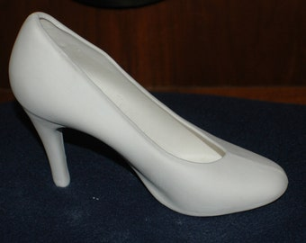 Ready to Paint Plain High Heeled Shoe