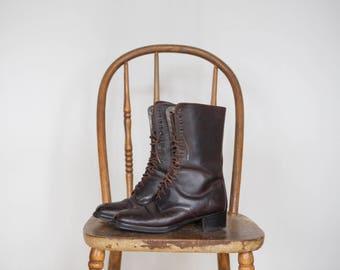 Vintage 90s Aldo lace-up boots