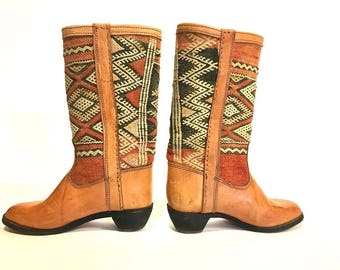 Kilim Woven Western Boot