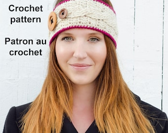 Pattern only! Infinity headband pattern by Akroche Tatuk (english and french).