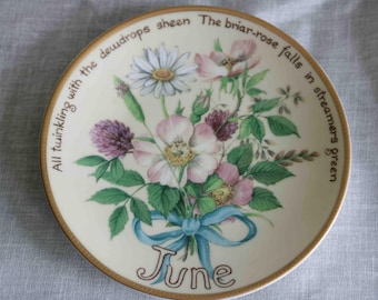 The Country Diary of an Edwardian Lady Limited Edition Plate  'June'  Bradex Davenport  Excellent condition