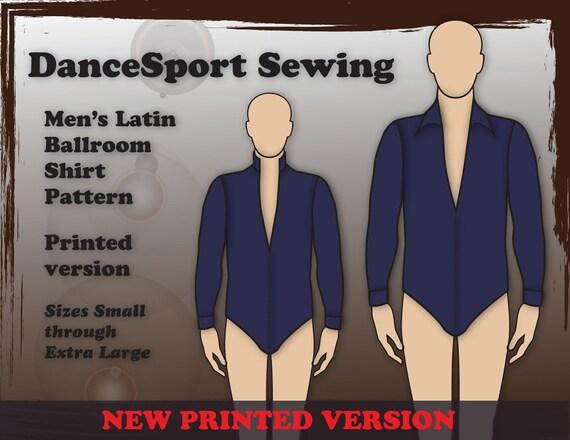 Men\'s Latin ballroom shirt sewing pattern PRINTED Version
