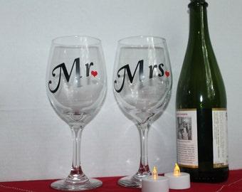Mr or Mrs. Wine Glasses