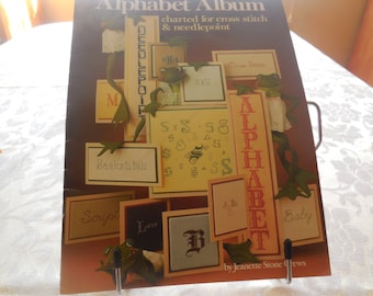 CROSS STITCH Alphabet Album Jeanette Stone Crews