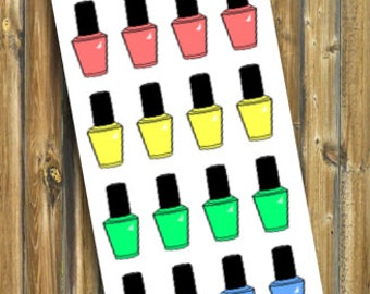 Nail Polish Planner Stickers