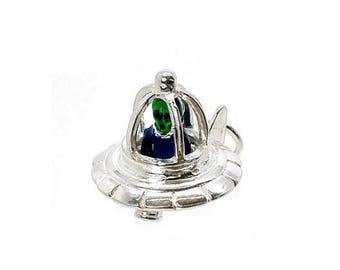 Sterling Silver Best Ever Alien In Flying Saucer Charm For Bracelets