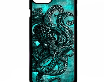 Octopus squid sailor sea creature tattoo tentacles out graphic cover for Samsung Galaxy S5 S6 s7 s8 plus edge note 4 5 phone case