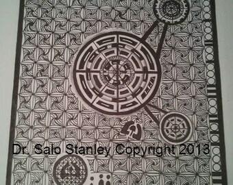 Crop Circle Contact 8 x 10 card stock glossy print