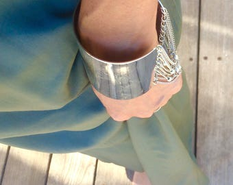 BIG silver Bracelet,  silver Chain Bracelet, silver Bracelet, Chain Bracelet, Specia silver bracelets
