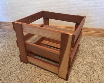 Redwood Crate - made from old folding chair slats!