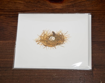 """An unidentified Nest- 4.25"""" X 5.5"""" Note Card"""