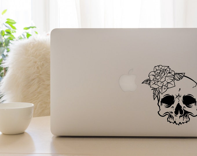 Skull and Rose Decal