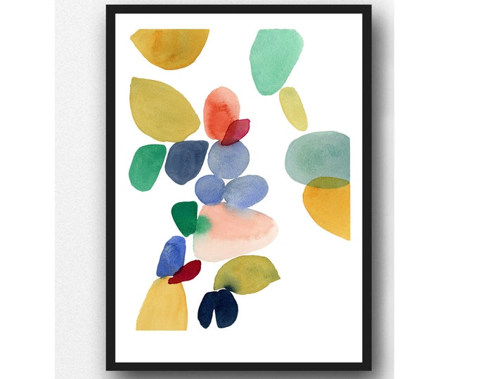 Featured listing image: Autumn series, colorful watercolor print, Abstract watercolor painting Watercolor print, colorful home decor