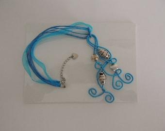 Handmade aluminum pendant necklace