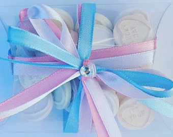 Baby shower wedding christening party favours sweet treats. Gender reveal favours.