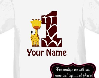 Griaffe Personalized Birthday Shirt - ANY AGE