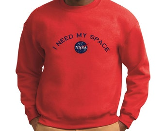 Men's NASA I Need My Space Insignia Embroidered Crewneck Sweatshirt - Multi Color Size 18000