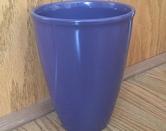 Beautiful Solid Lavender Orchid Ceramic Flower Vase