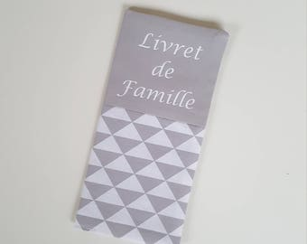 protects fabric family book geometric gray and white triangles