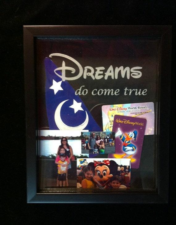 Recuerdos de Disney grabado caja de sombra marco de