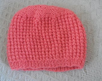 Hand Knitted Baby Hat 0-3 Months
