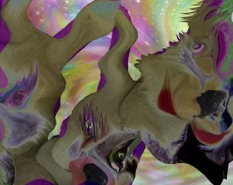 Hareless digital art print by Violet Tantrum