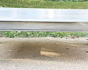 Hand painted coffee table blue/grey french provincial gold accents home decor furniture 48x26x16