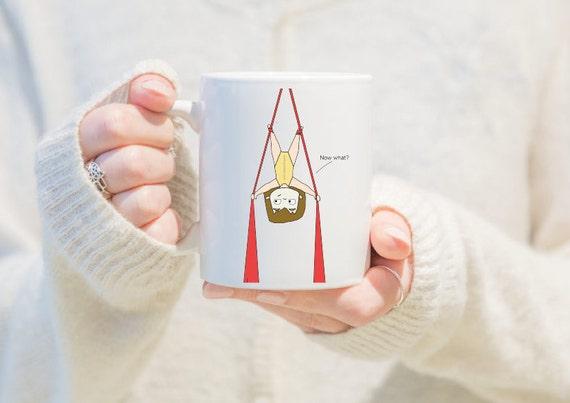 aerial silk mug, gift for women, unique coffee mug, coffee mug, aerial problems, circus problems, circus gift, circus mug, circus party
